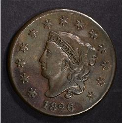 1826 LARGE CENT VF, NICE