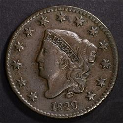 1829 LARGE CENT, N-2, VERY FINE