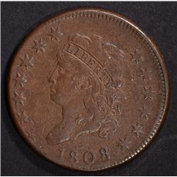 1808 CLASSIC HEAD LARGE CENT VF MILD POROSITY