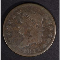 1811 CLASSIC HEAD LARGE CENT VG