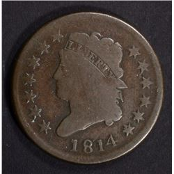1814 CLASSIC HEAD LARGE CENT G/VG