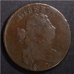 1800 DRAPED BUST LARGE CENT FINE w/MILD POROSITY