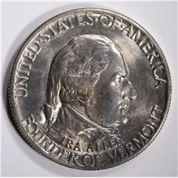 VERMONT HALF DOLLAR COMMEM GEM BU
