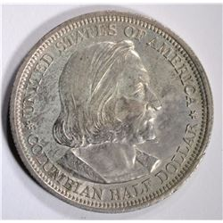 1893 COLUMBIAN HALF DOLLAR COMMEM CHBU TONING