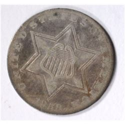 1858 THREE CENT SILVER VF
