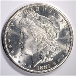 1881-S MORGAN DOLLAR GEM BU
