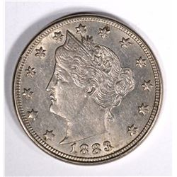 "1883 LIBERTY ""V"" NICKEL CHOICE BU/GEM BU"