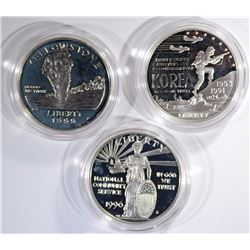 3- SILVER PRF $1-'91 KOR,'96 C.S., '99 YELL