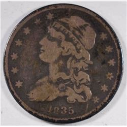 1835 CAPPED BUST QUARTER  VG-F