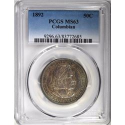 1892 COLUMBIAN HALF DOLLAR, PCGS MS-63