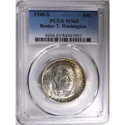 1946-S BOOKER T WASHINGTON HALF, PCGS MS-65