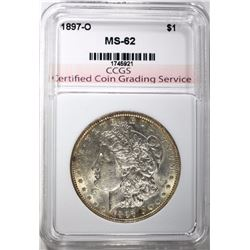 1897-O MORGAN DOLLAR, CCGS BU