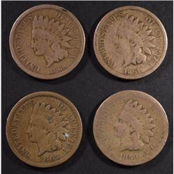 1859 F, 1860-62 VG INDIAN CENTS