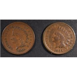 1864 & 1865 INDIAN CENTS FINE