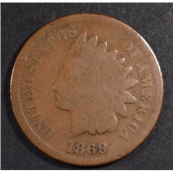 1869 INDIAN CENT, GOOD