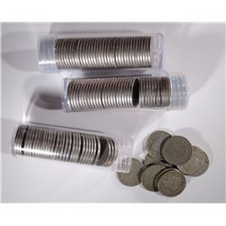 3-ROLLS OF CIRC MIXED DATE LIBERTY NICKELS