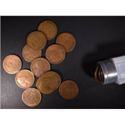 ROLL OF 50-1912-D LINCOLN CENTS, AVE CIRC