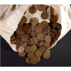5000 LOOSE LINCOLN WHEAT CENTS IN BAG