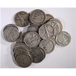 25-CIRC WALKING LIBERTY HALVES