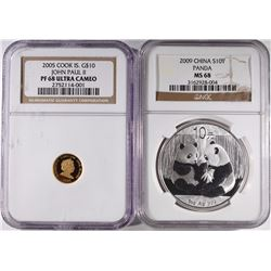 LOT: 2005 COOK ISLANDS $10 GOLD NGC PF 68
