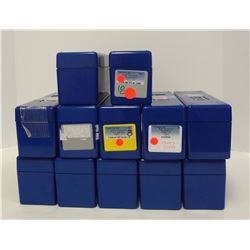 12-USED BLUE PCGS GRADED COIN BOXES/LIDS