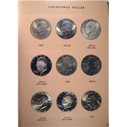 IKE $ SET 1971-78 COMPLETE 32 COINS WITH