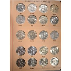 FRANKLIN HALF DOLLAR SET 1948-63 CH BU