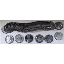 "BU ROLL OF 1943 LINCOLN ""STEEL"" CENTS"