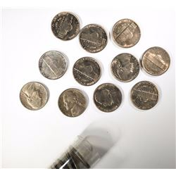 BU ROLL OF 1951 JEFFERSON NICKELS