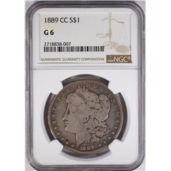 1889 CC MORGAN DOLLAR NGC G 6