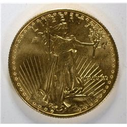 1990 $25.00 AMERICAN GOLD EAGLE GEM BU+