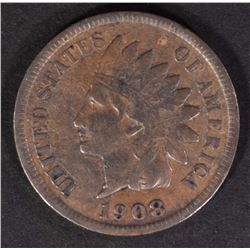 1908-S INDIAN CENT VF  KEY COIN