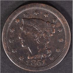 1851/81 LARGE CENT  F-VF