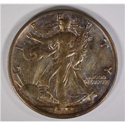 1917-D OBV. WALKING LIBERTY 50C XF
