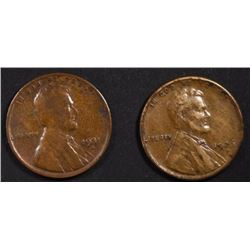 1926-S XF AU & 1931-S FINE LINCOLN CENTS