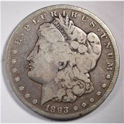 1893 CC MORGAN DOLLAR VG