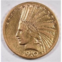 1910-D $10.00 INDIAN GOLD  XF