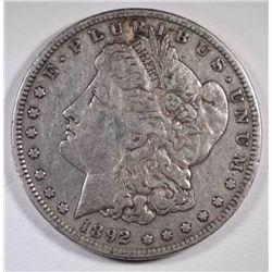 1892-S MORGAN DOLLAR XF+  ORIGINAL