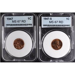 1947 & 1947-S LINCOLN CENTS
