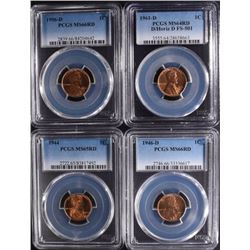 PCGS LINCOLN CENTS ; 1944 MS65RD,