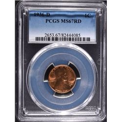 1936-D LINCOLN CENT PCGS MS67RD