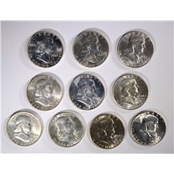 10 BU FRANKLIN HALVES