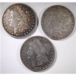 3-1880 MORGAN DOLLAR, VF/XF