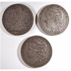 3-1882 MORGAN DOLLARS, VF