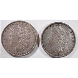 2-1887 MORGAN DOLLARS, VF/XF