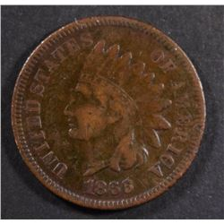 1866 INDIAN HEAD CENT, FINE