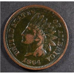 "1864 ""L"" INDIAN CENTS, FINE a few marks"