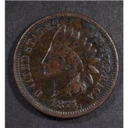 1871 INDIAN HEAD CENT, VG KEY DATE