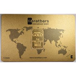 KARAT BARS 5gm 999.9 GOLD BAR ORIG PACKAGING