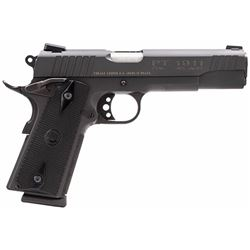 "Taurus 1191101FS 1911 Standard 45 ACP 5"" 8+1 w/Heinie Sight  Blk Grip Blued"